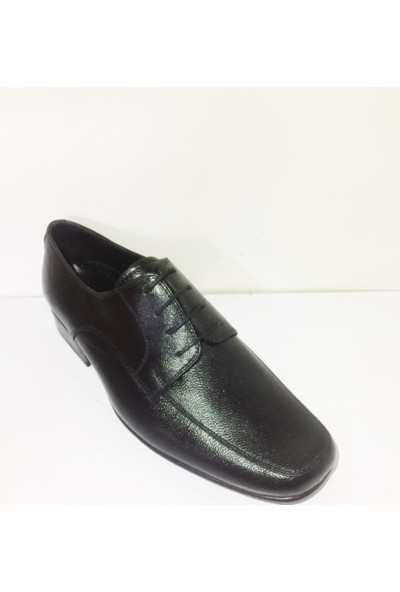 Selim Pirinçoğlu 4038 Bağlı Hakiki Keçi Derisi Kösele Taban Erkek Ayakkabısı - Siyah - 41 - ST01263-12696