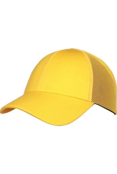 Shelter Koruyucu Darbe Emici Top Kep Şapka Baret Sarı