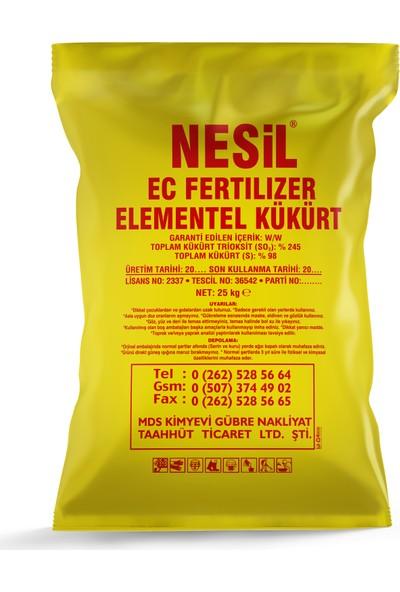 Nesil Elementel Toz Kükürt 25 kg (Haşere Kovucu, Ph Dengeleyici)