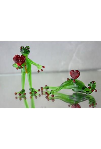 Adamodart Aşık Kurbağalar 2'li Cam Biblo Set