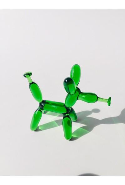 Adamodart Yeşil Balon Köpek Cam Biblo