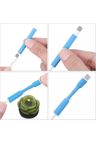 Hondep Apple Iphone Şarj Kablosu Koruyucu Isıyla Daralan 12 Adet Beyaz Makaron Kablo Kılıf Aksesuar
