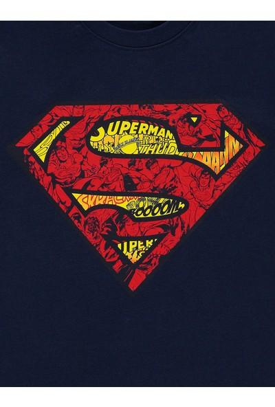 Superman Erkek Çocuk Sweatshirt 10-13 Yaş Lacivert