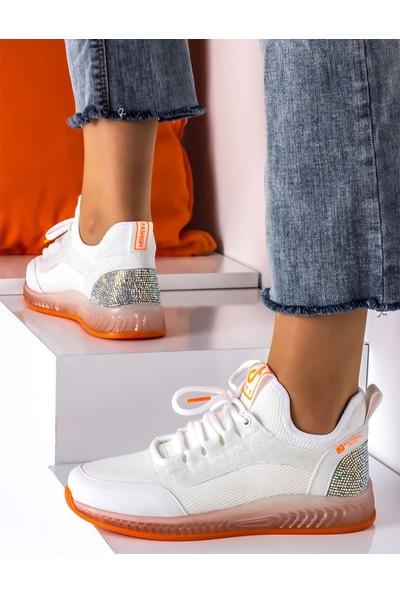 Ayakkabiburada 100 Ortopedi Taban Yazlık Kadın Spor Ayakkabı