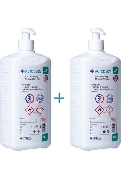 Actoderm® 1 Lt El ve Cilt Dezenfektan 2 Adet + Pompa