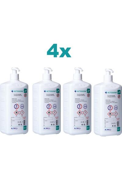 Actoderm® 1 Lt El ve Cilt Dezenfektanı 4 x 1 Lt + 2 Pompa
