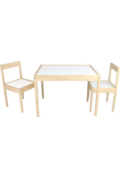 Edu Dizayn Seya Ahşap Çocuk Çalışma Masası Masa Sandalye Takımı Ahşap Çocuk Masası