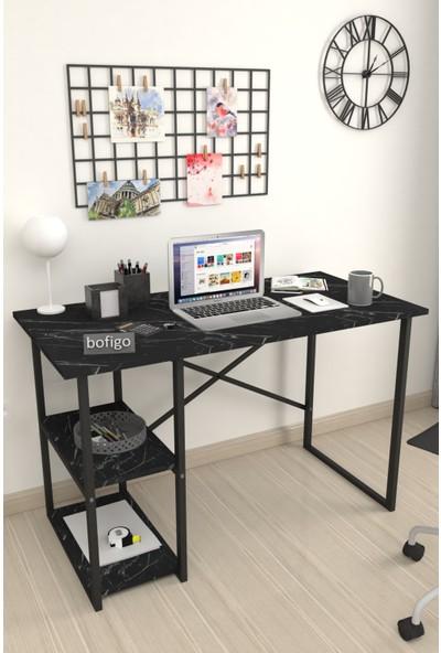 Bofigo 60X120 cm 2 Raflı Çalışma Masası Bilgisayar Masası Ofis Ders Yemek Masası Bendir
