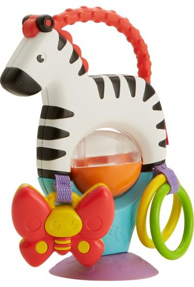 Fisher-Price Sevimli Zebra Mama Koltuğu Oyuncağı, Renkli, Çıngıraklı FGJ11