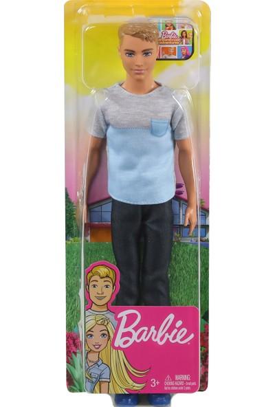 Barbie Seyahatte Ken Bebek, 30 cm Boyunda, Gri ve Mavi Gömlek ile Siyah Pantolonlu, 3-7 Yaş Arası İçin GHR61