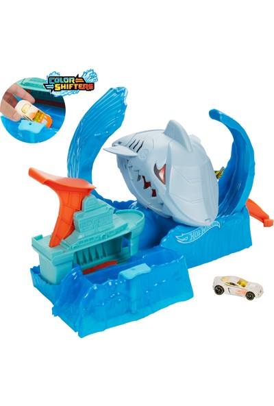 Hot Wheels Robotik Köpek Balığı Renk Değiştiren Oyun Seti, 3 Yaş ve Üzeri Çocuklar İçin GJL12