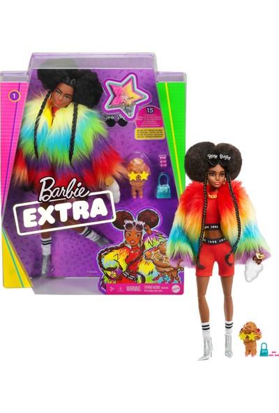 Barbie Extra - Gökkuşağı Renkli Ceketli Bebek Köpek Figürü İle 3-9 Yaş Arası Kızlar İçin İdeal Bir Hediye Gvr04