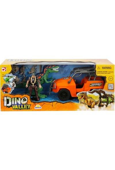 Dino Valley Dinozor Saldırısı Oyun Seti Turuncu Jeep