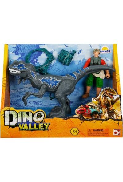 Dino Valley Figürlü Oyun Seti Gri Dinozor