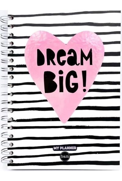 Trendimsin Telli Planlayıcı Defter Ajanda - Dream Big
