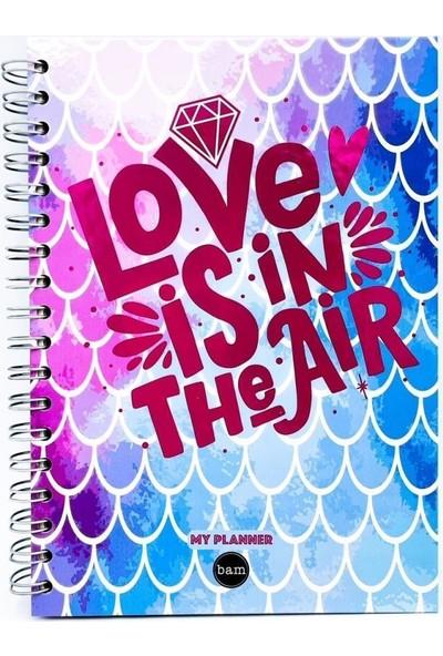 Trendimsin Telli Planlayıcı Defter Ajanda - Love Is In The Air