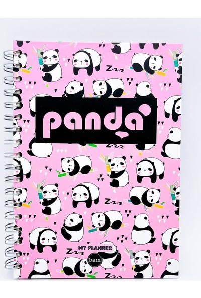 Trendimsin Telli Planlayıcı Defter Ajanda - Panda