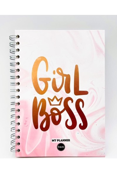 Trendimsin Telli Planlayıcı Defter Ajanda - Girl Boss
