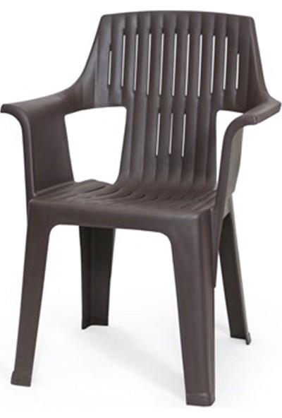 Rainbow Arızona 80 x 140 cm Wood Masa Paşa Sandalye Set Kahve