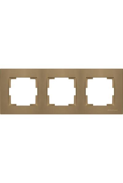 Mutlusan Rita Antik Altın Üçlü Yatay Çerçeve MUT-2220 800 1380