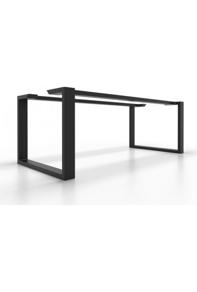 Abronya Metal Masa Ayağı Destekli Masa Ayağı Modelleri Yemek Masası Mutfak Masası Ayakları 73X60X150 cm