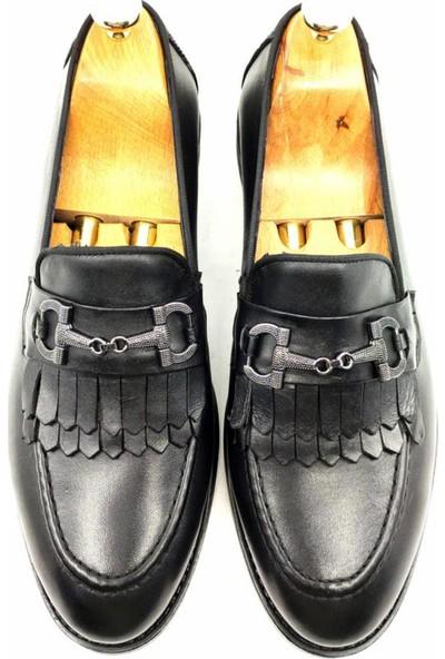 Deepsea Siyah Erkek Demir Tokalı Enjeksiyon Tabanlı Deri Ayakkabı 2104493