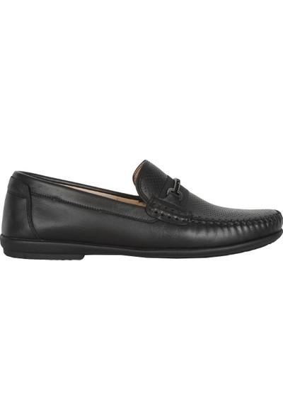 Balayk 022 Siyah Lz Deri Yazlık Erkek Klasik Babet Ayakkabı