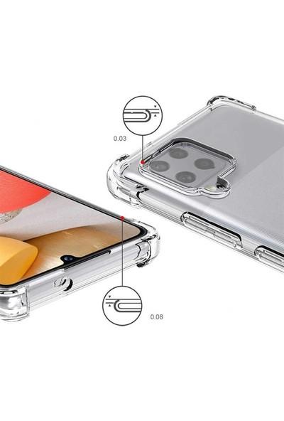 Coverest Samsung Samsung Galaxy A12 - M12 Ultra Ince Şeffaf Airbag Anti Şok Silikon Kılıf