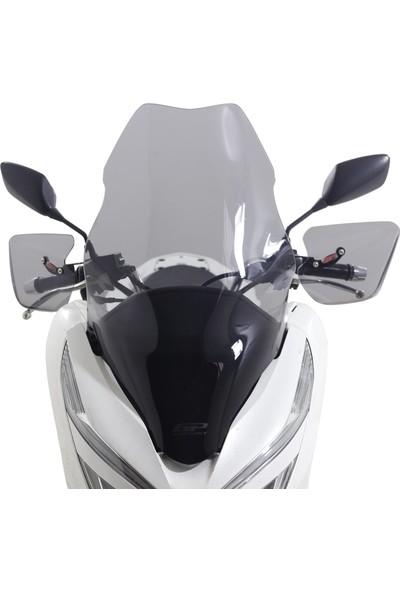 Motospartan Siperlik Camı Honda Pcx 125 150 Uzun Şeffaf 2018-2020 ( Gp Baskılı )