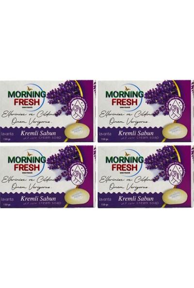 Morning Fresh Mis Lavanta Kokulu Sabun Katı Krem Sabun Banyo Sabunu 4 x 150 G