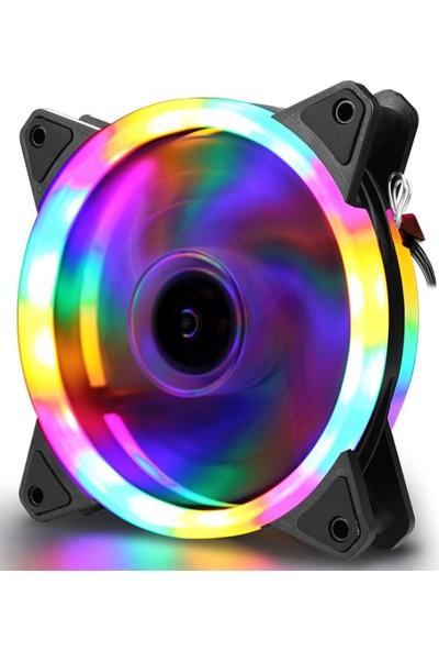 Gaman Gaming Serisi Rgb Rainbow LED Işıklı Kasa Fanı 120MM Sessiz Kasa Fanı