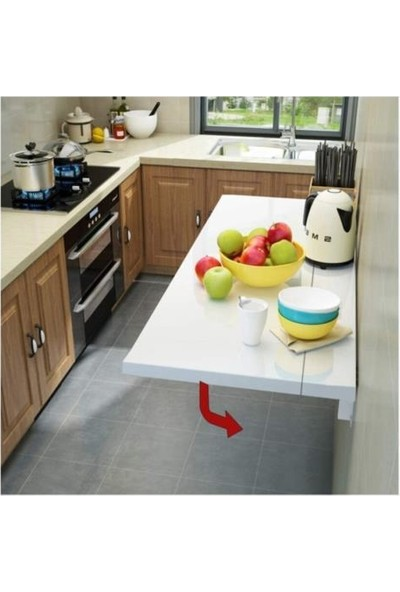 Ankaflex Katlanabilir Kırma Yemek Masası Çalışma Masası Mutfak Masa 60 x 90 cm