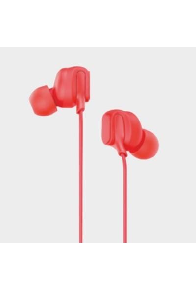 Lenovo HF150 Mikrofonlu Kablolu Kulak Içi Kulaklık Kırmızı