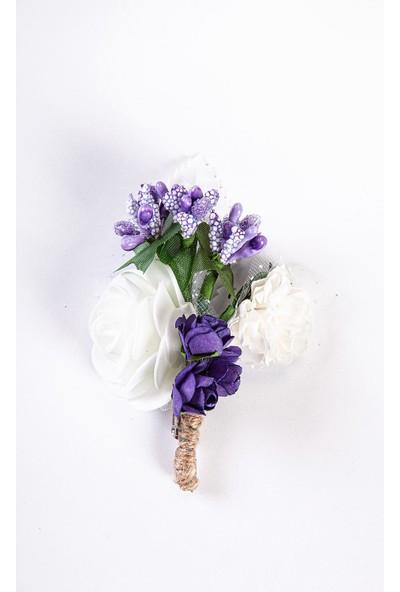 İlhan Işık Erkek Damat - Sadıç Yapay Şık Beyaz Yaka Çiçeği