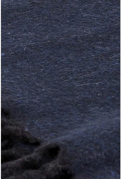 İlhan Işık Okka Erkek Kışlık Püsküllü Kendinden Desenli Kaşmir Atkı