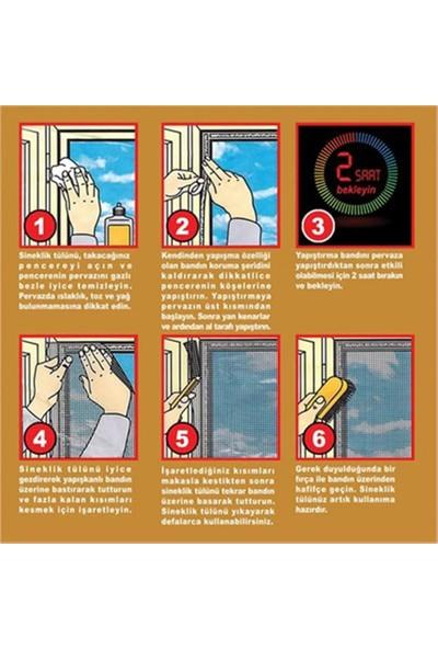 5 Adet Hazır Pencere Kapı Sinekliği - Tek Kanat Tül Sineklik (75X125)