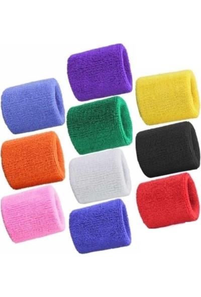 Kogam 10 Adet Sporcu Havlu El Bilekliği Fitness Futbol Basketbol Tenis Için Bileklik 10 Renk