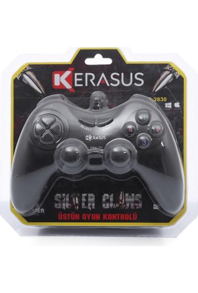 Kerasus KR-2830 Titreşimli Gamepad Joystick Bilgisayar Oyun Kolu