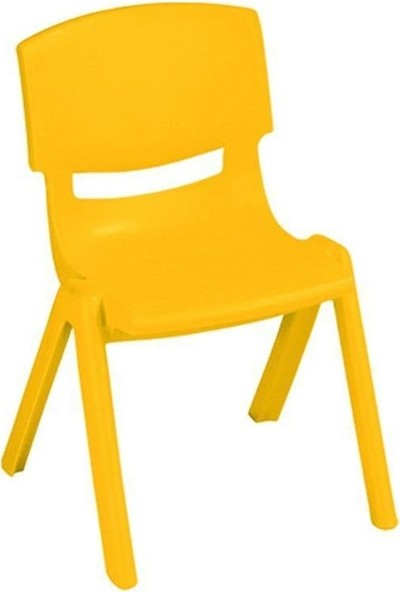 Irak Plastik Plastik Çocuk Sandalyesi Sarı - 33CM