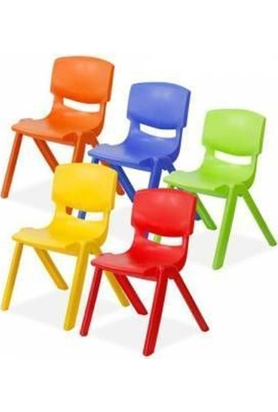 Irak Plastik Kırılmaz Plastik Çocuk Sandalyesi Turuncu-25 cm