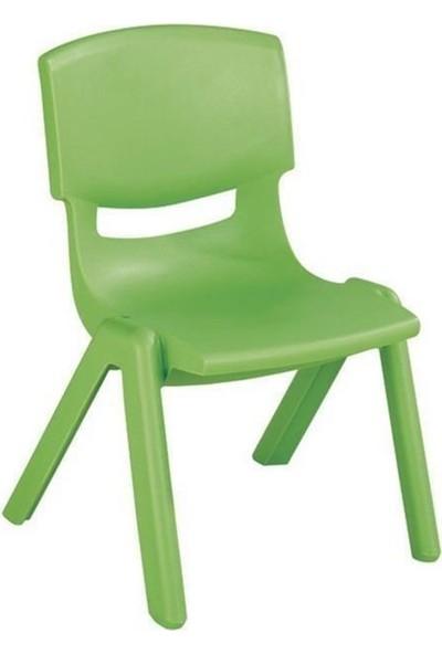 Irak Plastik Kırılmaz Plastik Çocuk Sandalyesi Yeşil-34 cm