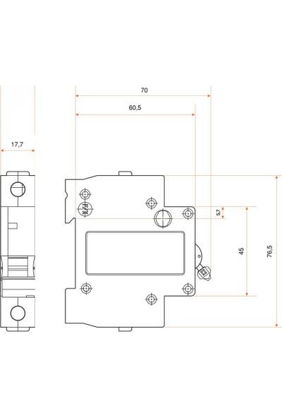 Federal 1X50A 3ka C Tipi Otomatik Sigorta 9EC-C0331-0D50