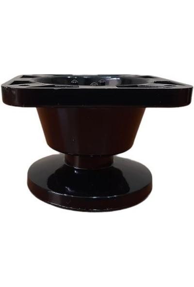 Adilon Konik Ayak 5 cm Siyah 4 Adet, Tv Ünitesi, Koltuk Altı , Dolap Ayağı + Vidaları