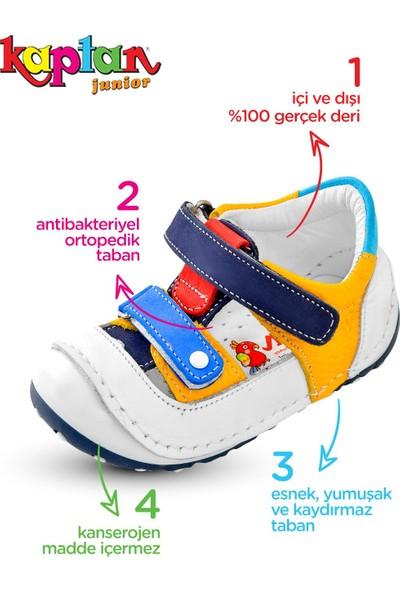 Kaptan Junior Ilkadım Hakiki Deri Erkek Bebek Ortapedik Ayakkabı Imse 602
