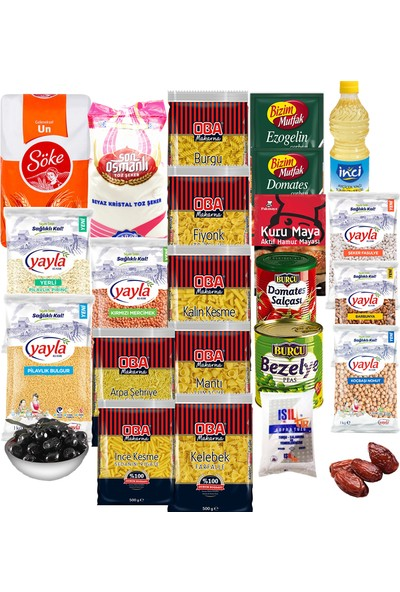 Oba Gıda Erzak Paketi 24 Parça - Tbyg-Erzak-2