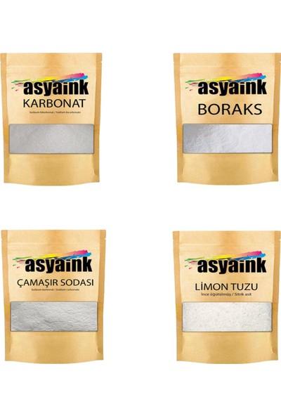 Asyaink Boraks 1 kg Karbonat 1 kg Çamaşır Sodası 1 kg Limon Tuzu 250 gr Deterjan Seti