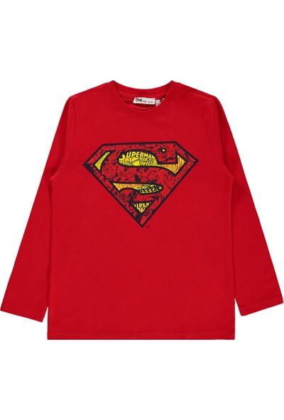 Superman Erkek Çocuk Sweatshirt 10-13 Yaş Kırmızı