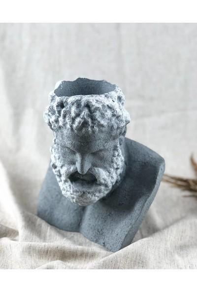 Decaristan Cefl Boyanabilir Ham Obje- Beton Görünüm Zeus Saksı