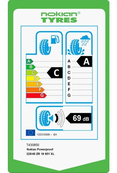 Nokian Powerproof 225/45 ZR18 95Y Xl Yaz Lastiği (Üretim Yılı: 2020)