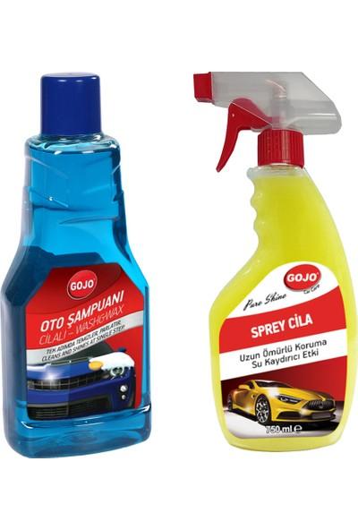 Gojo Hızlı Cila 750 ml + Cilalı Oto Yıkama Şampuanı 1000 ml
